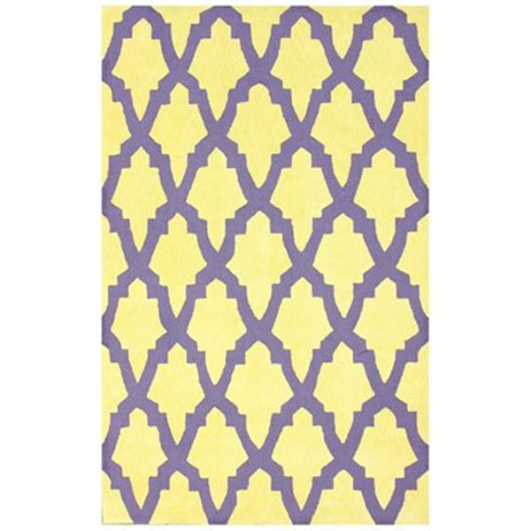 nuLOOM Grace 8-ft x 10-ft Purple and Yellow Area Rug