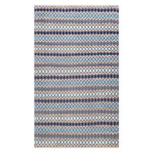 nuLOOM Ellamae Diamond Chevron 6-ft x 9-ft Blue Area Rug