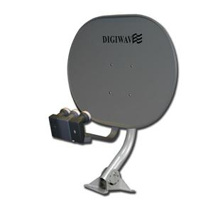 Digiwave Gray 33-in Elliptical Satellite Dish