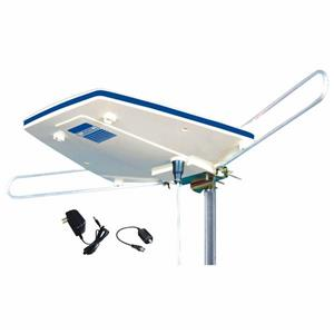 ElectronicMaster White Digital Outdoor HDTV Antenna