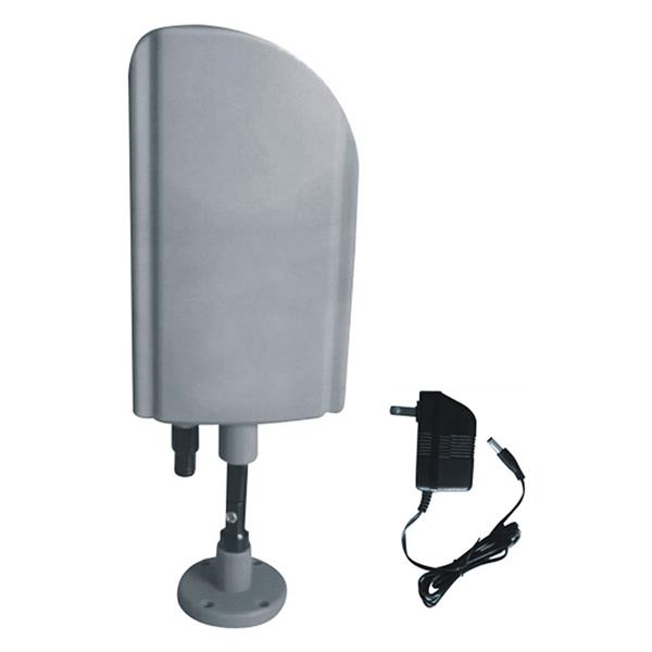 Digiwave Gray Indoor and Outdoor TV Antenna with Booster