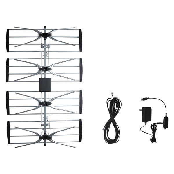 Antenne pour télévision avec amplificateur, extérieure