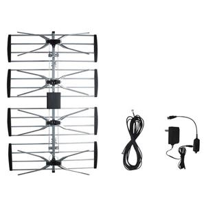 ElectronicMaster Outdoor TV Antenna with Booster