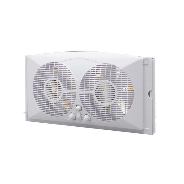 Ventilateur Double Pour Fenêtre Ecohouzng 9 Blanc Ct4006w Rona