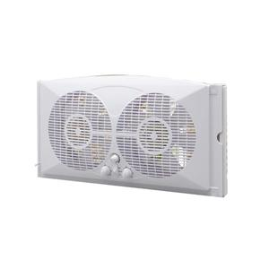 Ecohouzng 9-in White Twin Window Fan