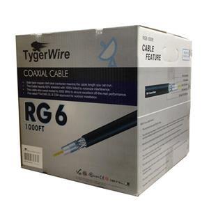 Câble coaxial TygerWire RG6 pour l'extérieur, 1000'