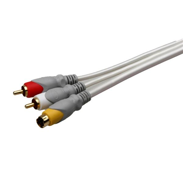 Câble audio vidéo RCA vers SVHS, 12 pieds