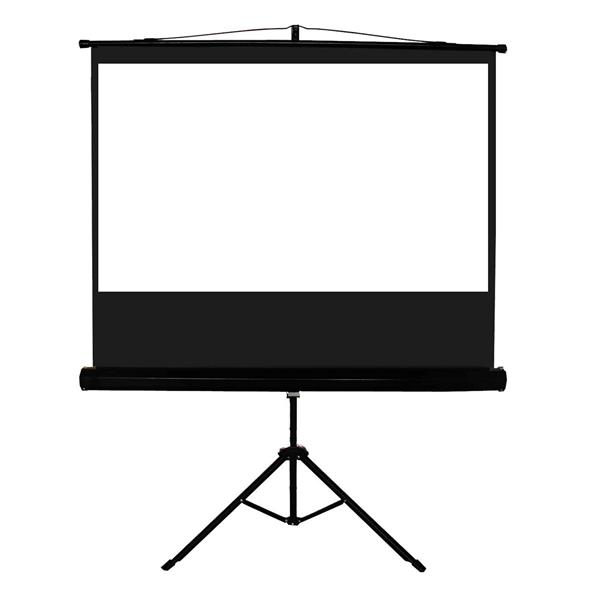 TygerClaw 100-in Black Manual Projector Screen with Tripod
