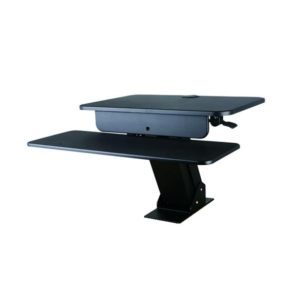 TygerClaw 26.8-in Black Workstation Stand
