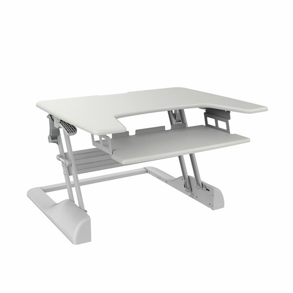 TygerClaw 30-in White Workstation Stand