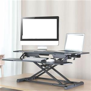 TygerClaw 37-in Sit Stand Workstation