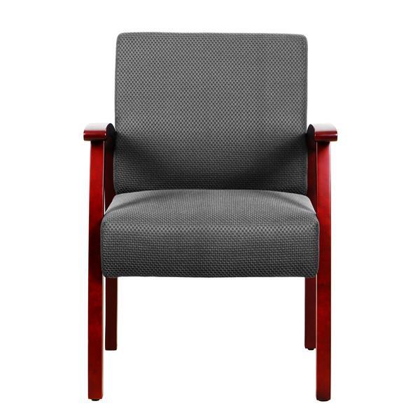 """Chaise de bureau TygerClaw, 21,1"""" x 17,5"""", rembourré , gris"""