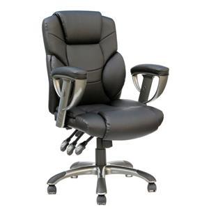 """Chaise de bureau TygerClaw, 21,26"""" x 21"""", rembourré, noir"""