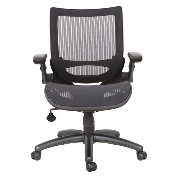 """Chaise de bureau TygerClaw, 21,5"""", rembourré, noir"""