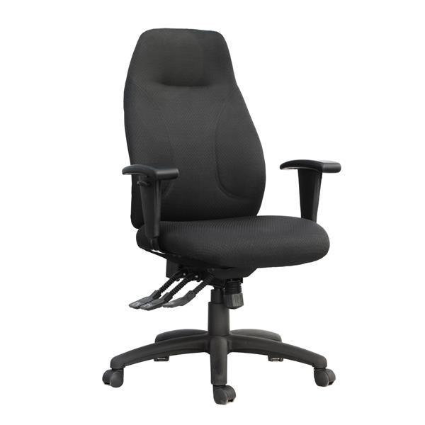 """Chaise de bureau TygerClaw, 19,29"""" x 21"""", filet, noir"""