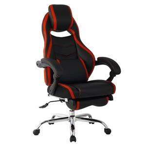 TygerClaw 20.87-in x 20-in Red Faux Leather Office Chair