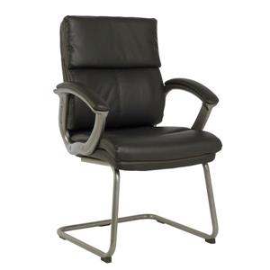 TygerClaw 17.5-in Black Faux Leather Office Chair