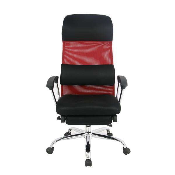 """Chaise de bureau TygerClaw, 19,7"""" x 20"""", filet, rouge"""