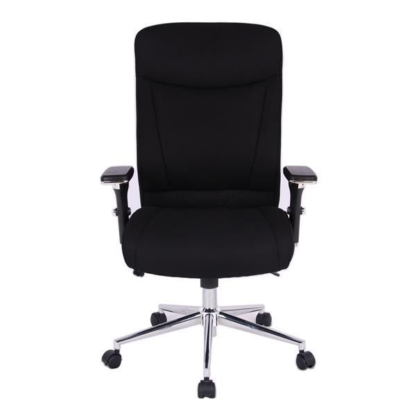 TygerClaw 19.7-in x 21-in Black Faux Leather Office Chair