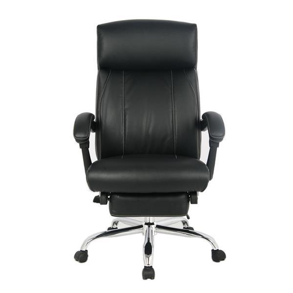 """Chaise de bureau TygerClaw, 19,7"""" x 20"""", similicuir , noir"""