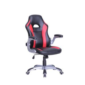 TygerClaw 20-in x 23-in Red Faux Leather Office Chair