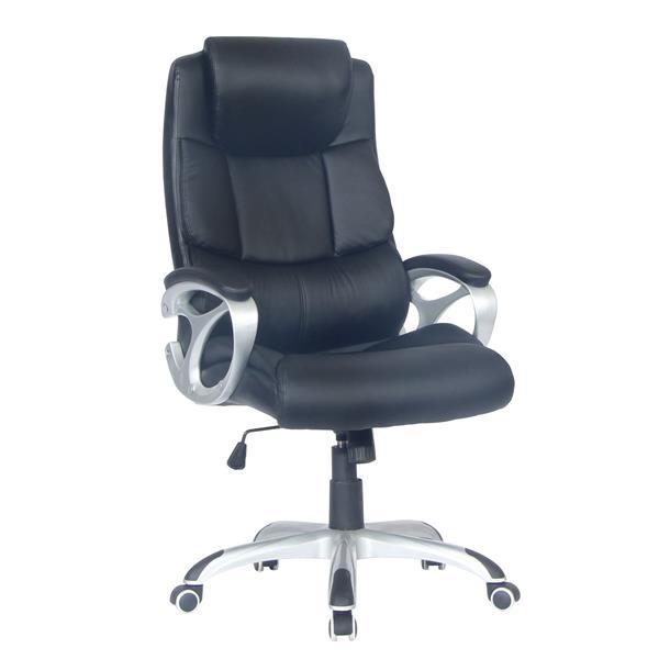 """Chaise de bureau TygerClaw, 21,5"""",  noir"""