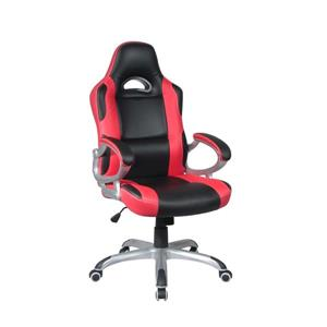 TygerClaw 20.9-in x 23-in Red Faux Leather Office Chair