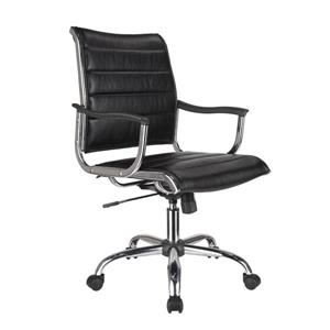 TygerClaw 20-in Black Faux Leather Office Chair