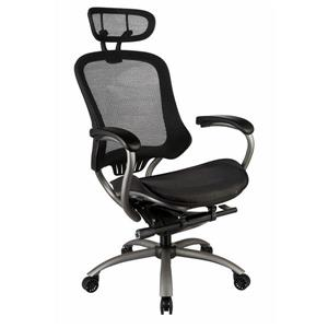 TygerClaw 19.29-in x 20-in Black Mesh Office Chair