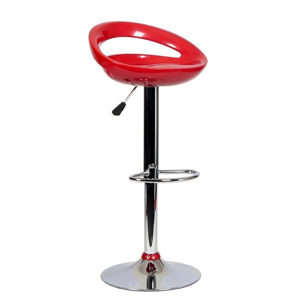"""Chaise de bureau TygerClaw, 14,3"""" x 29,1"""", plastique, rouge"""
