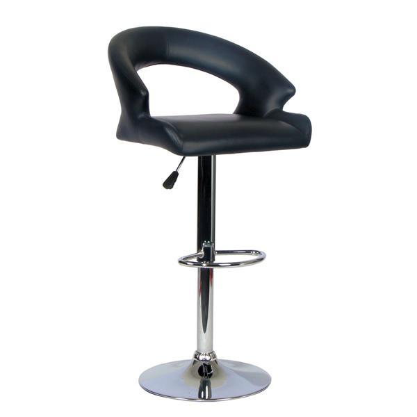 """Chaise de bureau TygerClaw, 18,65"""" x 31,1"""", plastique, noir"""