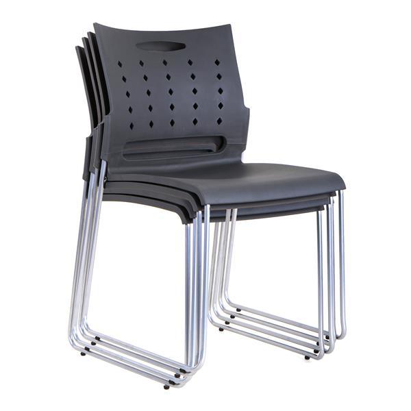 """Chaise de bureau TygerClaw, 16,88"""" x 32,2"""", plastique, noir"""