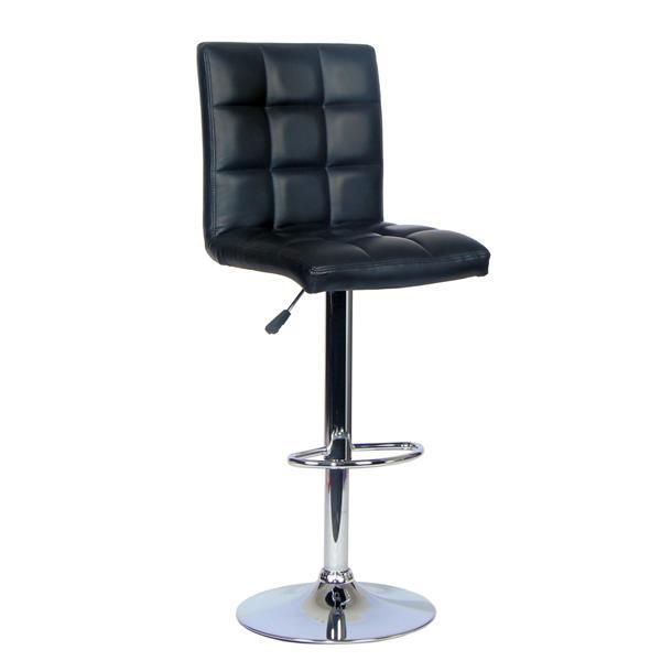 """Chaise de bureau TygerClaw, 16,14"""" x 29,5"""", plastique, noir"""