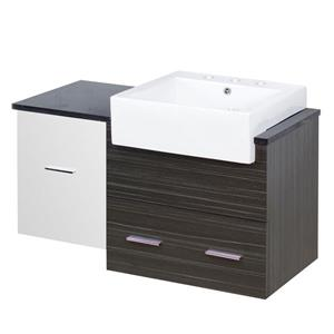 Xena Farmhouse 36.75-in Multi Coloured Bathroom Vanity with Quartz Top