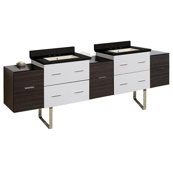 "Ensemble de meuble-lavabo, 88,5"", brun"