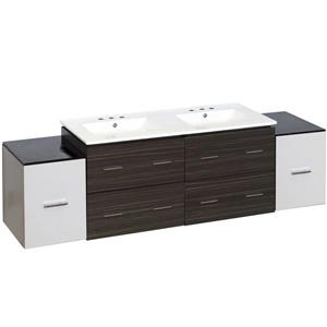 Xena Farmhouse 76-in Multiple Finishes Bathroom Vanity With Ceramic Top