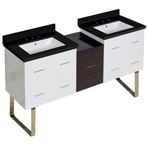 Xena Farmhouse 61.5-in Multiple Finishes Bathroom Vanity With Quartz Top