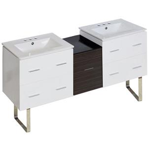 Xena Farmhouse 61.5-in Multiple Finishes Bathroom Vanity with Ceramic Top