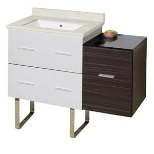 Xena Farmhouse 37.75-in Single Sink Multi Finishes Bathroom Vanity with Marble Top