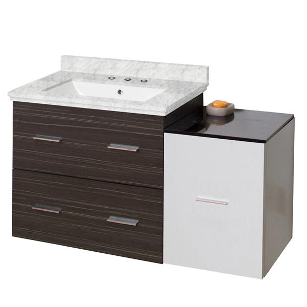 Xena Farmhouse 37.75-in Multi Finishes Single Sink Marble Top
