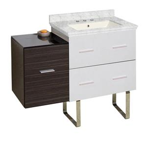 Xena Farmhouse 37.75-in Multiple Colors Bathroom Vanity with Marble Top