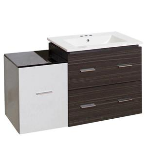 Xena Farmhouse 37.75-in Multiple Colors Bathroom Vanity with Ceramic Top