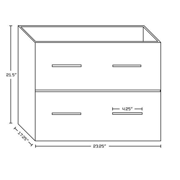 """Ensemble de meuble-lavabo, 73,5"""", gris"""