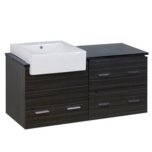 "Ensemble de meuble-lavabo, 48,75"", gris"