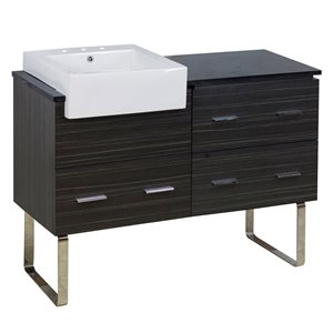 American Imaginations Xena Farmhouse 48.75-in Grey Bathroom Vanity with Quartz Top