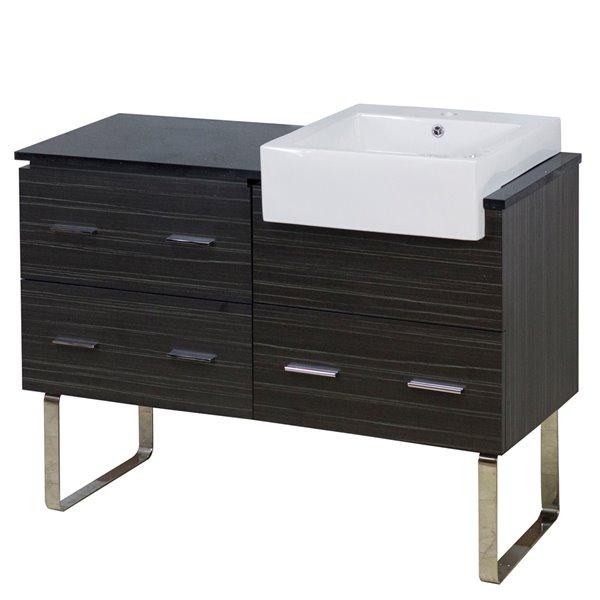 """Ensemble de meuble-lavabo, 48,75"""", gris"""