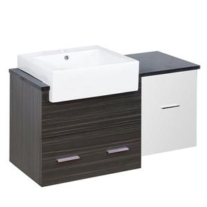 Xena Farmhouse 36.75-in Multi Coloured Bathroom Vanity with Quartz Top