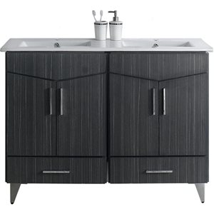 "Ensemble de meuble-lavabo, 48"", gris"