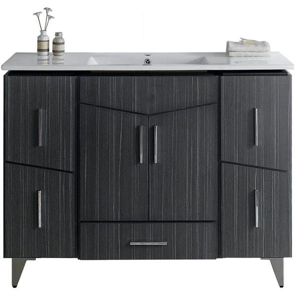 """Ensemble de meuble-lavabo, 48"""", gris"""