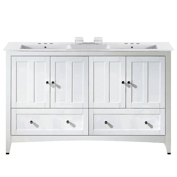 "Ensemble de meuble-lavabo, 59"", blanc"